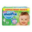 Molfix Süper Fırsatk Paket Maxi Plus 68'lı 4 Beden
