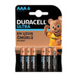 Duracell AAA Ultra İnce Kalem 6'lı Pil