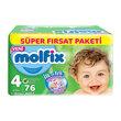 Molfix Süper Fırsat Paket Maxi 76'lı ı 4 Beden